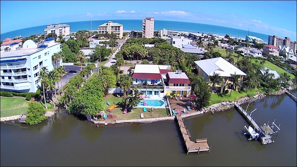 Dolphin Bay as seen from the air.