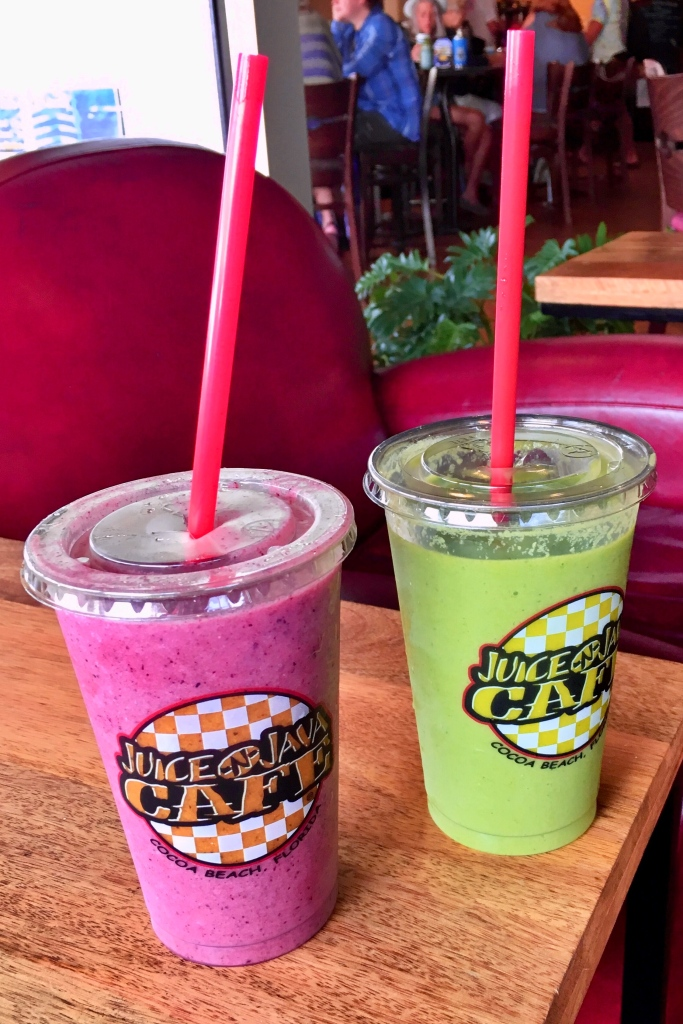 Juice N Java is great for breakfast, This picture shows 2 smoothies.