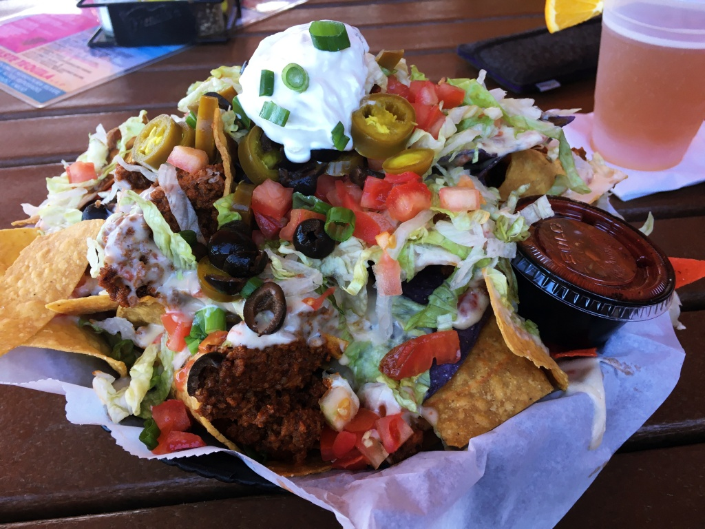 taco salad at Coconuts on the Beach in Cocoa Beach