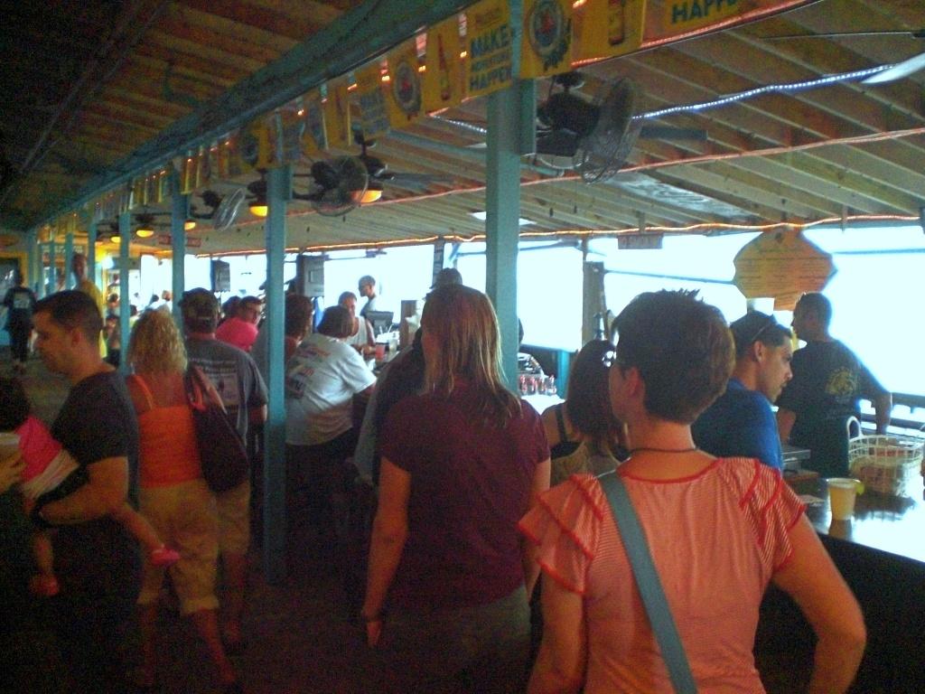 The Boardwalk bar on the Cocoa Beach Pier.