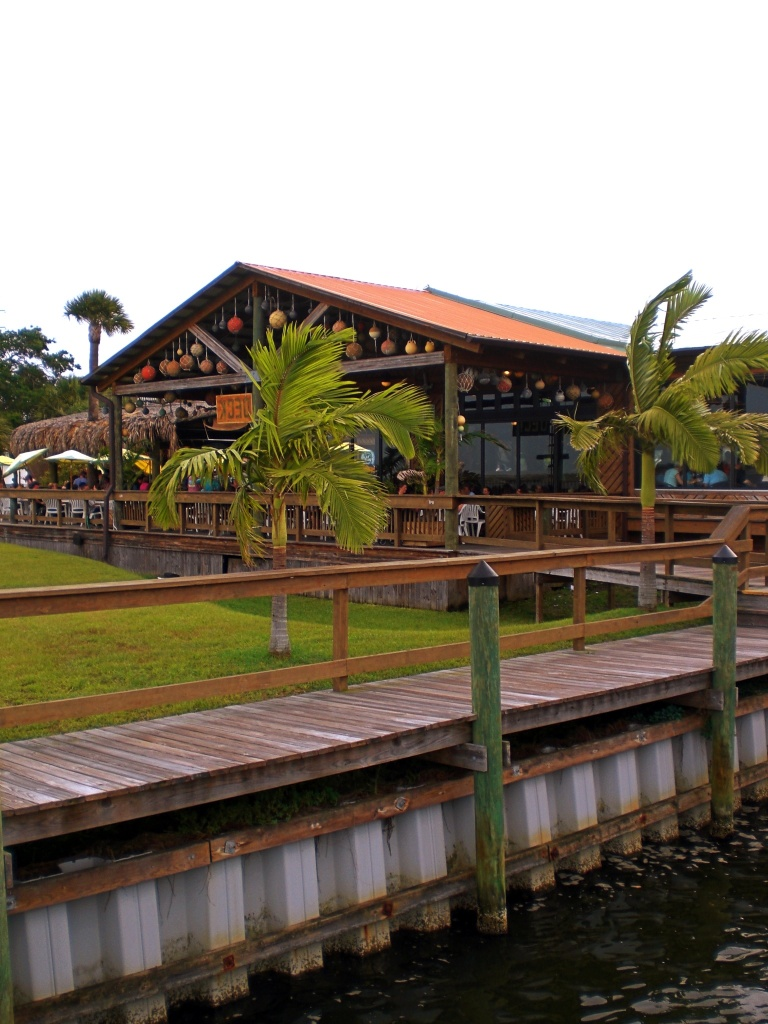 Grills restaurant in Melbourne, Florida as seen from the Indian River.