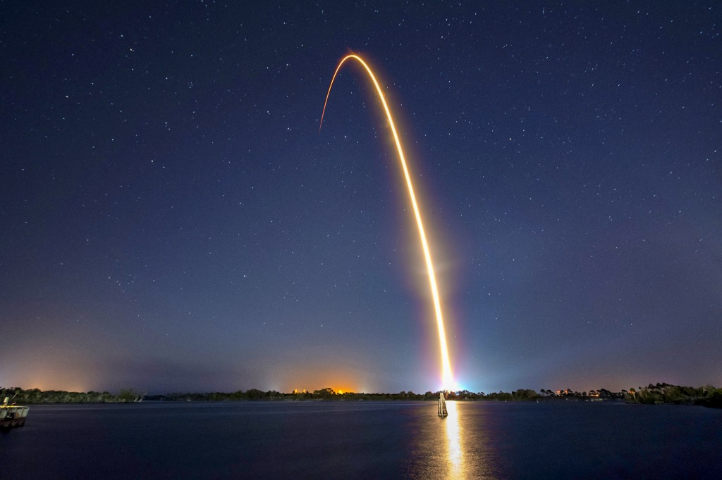 Rocket launch from Kennedy Space Center in Florida