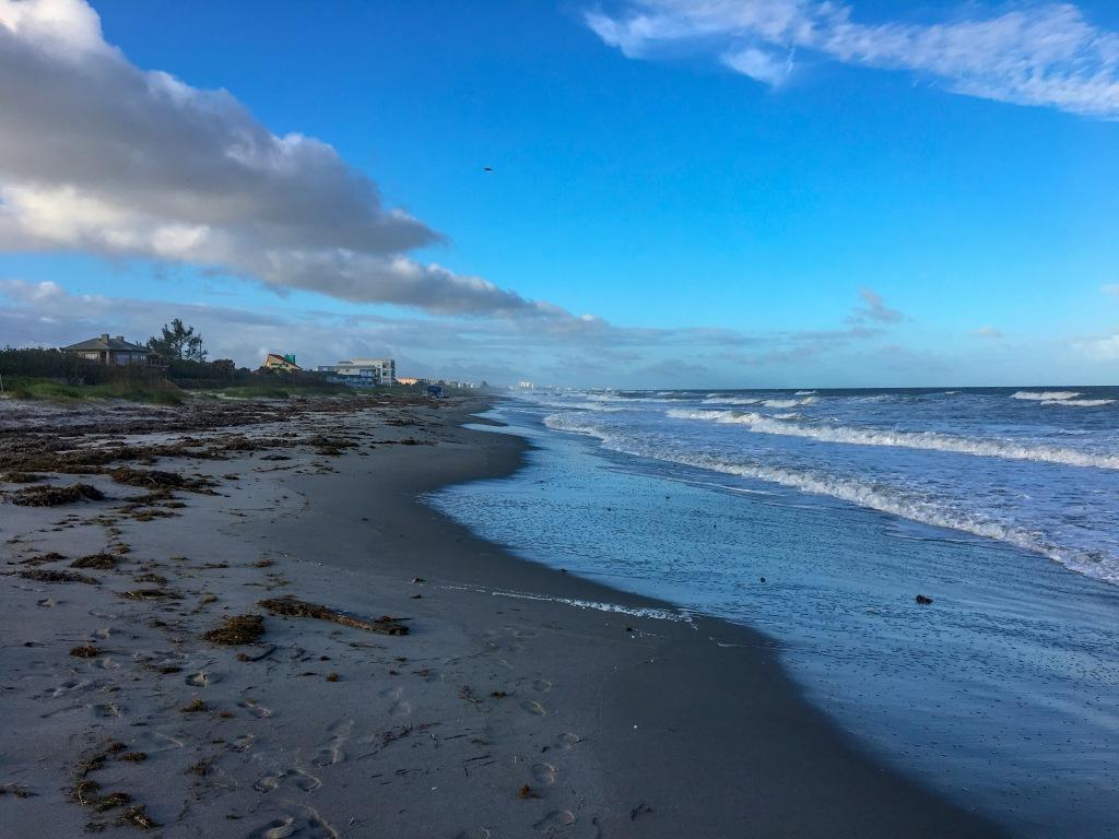 Secluded beach in Cocoa Beach, Florida